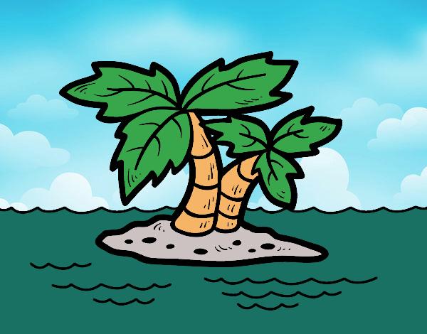 Desenho Ilha deserta pintado por Craudia