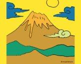 Desenho Monte Fuji pintado por DaniBello