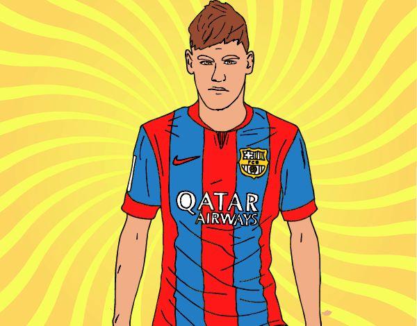 Desenho De Neymar Jr. Pintado E Colorido Por Neymarleao O