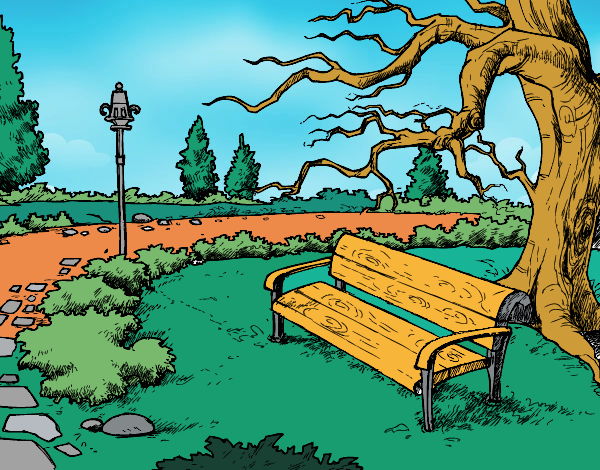 Desenho Paisagem da parque pintado por Craudia