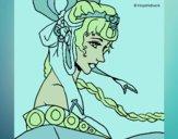 Desenho Princesa chinesa pintado por ceciliaz