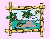 Quadro com palmeiras