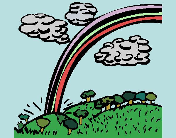 Desenho Arco-íris pintado por Craudia