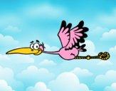 Cegonha a voar