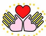 Mãos com amor
