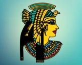 Desenho Perfil Cleopatra pintado por Craudia