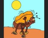 Desenho Formiga e amendoim pintado por Craudia