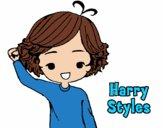 Desenho Harry Styles pintado por Raica10