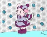 Desenho Ratita abrigada de Natal pintado por Jenniferr