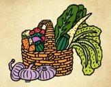 Desenho Cesta de legumes pintado por Craudia