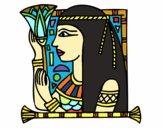 Desenho Cleopatra pintado por alya