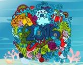 Desenho Collage 2016 pintado por NahAraujo