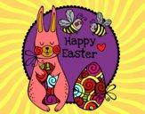 Desenho Happy Easter pintado por NahAraujo