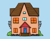 Desenho Casa com varandas pintado por AndressaBR