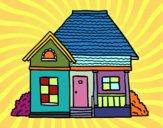 Desenho Casa de campo pintado por liolika