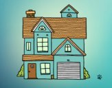 Desenho Casa de família americana pintado por LadyCinthi