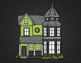 Desenho Clássica mansão pintado por LadyCinthi