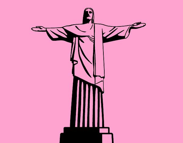 3f09b4d7e96 Desenho de O Cristo Redentor pintado e colorido por Usuário não registrado  o dia 13 de Fevereiro do 2017