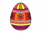 Ovo de páscoa com decorações