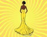 Vestido de noiva com cauda
