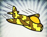 Avião da camuflagem