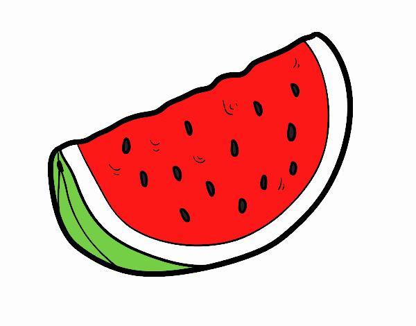 desenho de melancia derliciosa pintado e colorido por usuário não