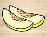 Desenho Fatias de melão pintado por Craudia