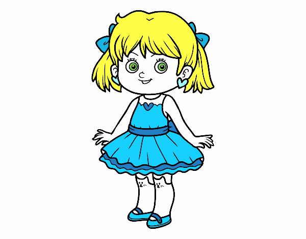 Desenho De Meninas Coloridas