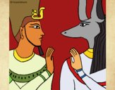 Desenho Ramses e Anubis pintado por VanVieira