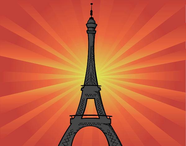 Desenho De A Torre Eiffel Pintado E Colorido Por Tiapg O