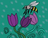 Desenho Abelha pintado por ceciliaz