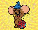 Rato com chapéu de Natal