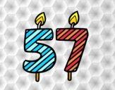 57 anos