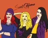 Desenho Alba Rocio i Sonia de Sweet California pintado por anaCFAIAL