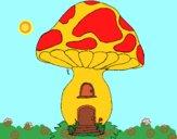 Desenho Casa cogumelo pintado por ceciliaz