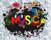 Desenho Colagem musical pintado por Smoky