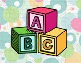 Desenho Cubos educacionais ABC pintado por Craudia