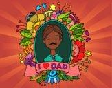 Desenho I love Dad pintado por Smoky