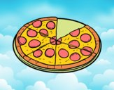 Desenho Pizza italiana pintado por luzinda