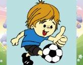 Desenho Rapaz a jogar futebol pintado por anaCFAIAL