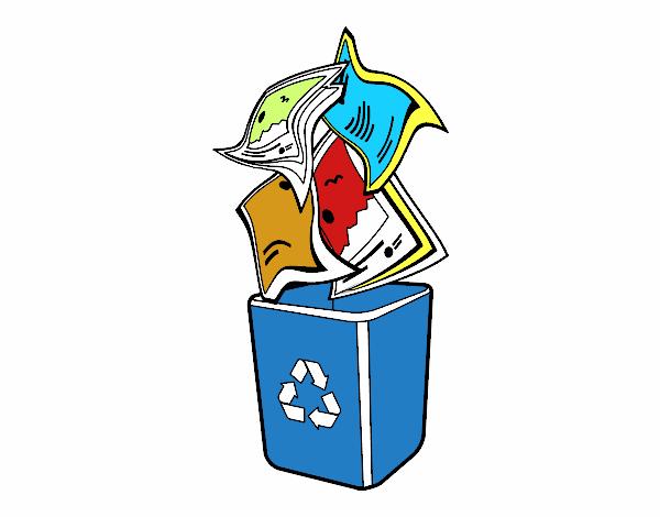 desenho de reciclagem de papel pintado e colorido por usuário não