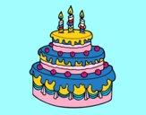 Desenho Torta de Aniversário pintado por mariasanto