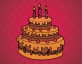 Desenho Torta de Aniversário pintado por anaCFAIAL