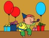Desenho Festa de aniversário pintado por ceciliaz