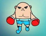 Desenho Boxeador calvo pintado por Color