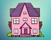 Desenho Casa com varandas pintado por ReehBity