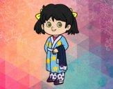 Desenho Menina com pijama pintado por ketelly