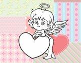Cupido e um coração