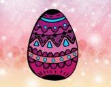 El ovo da páscoa decorado