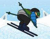 Esquiador experiente